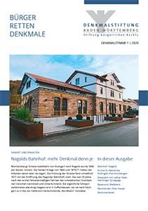 Denkmalstimme 1-2020 der Denmalstiftung Baden-Württemberg